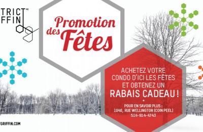 PROMOTION DES FÊTES!