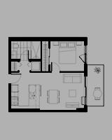 Plan condo modele B.1