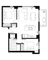 Plan condo modele C.1