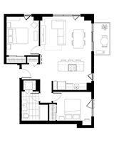 Plan condo modele C.2