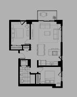 Plan condo modele C.3