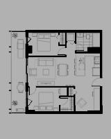 Plan condo modele H