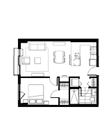 Plan condo modele M.1