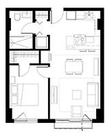 Plan condo modele A.2 – J+