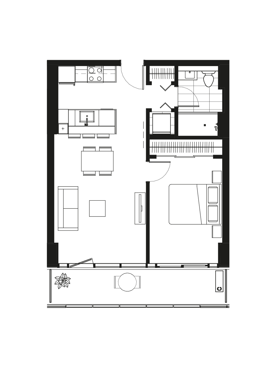 Plan condo modele A.2