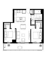 Plan condo modele B.2
