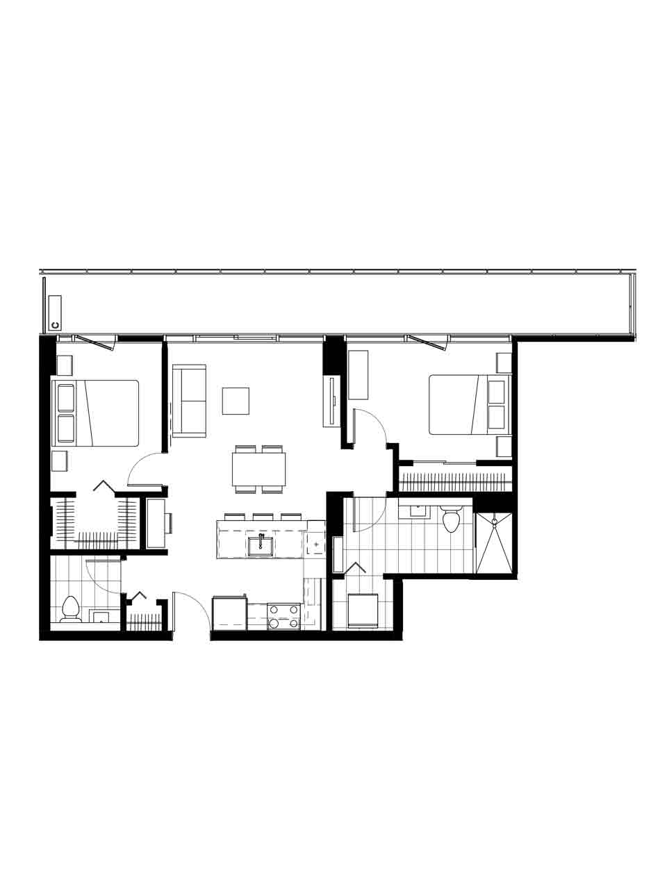 Plan condo modele M.2.1