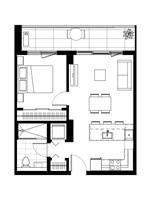 Plan condo modele A.3.6