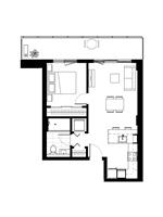 Plan condo modele A.1.4