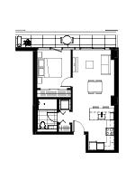 Plan condo modele A.1.4′