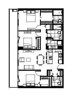 Plan condo modele C.2′