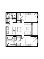 Plan condo modele SB3.1