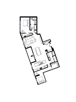 Plan condo modele PP3 Option 2