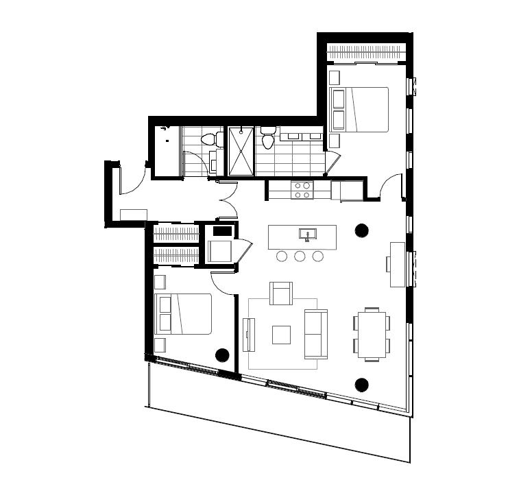 Plan condo modele SB5.2